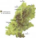 Übersichtskarte des Naturpark Schwarzwald Mitte/Nord